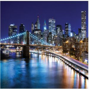 New York At Night Custom Made Picture Frame
