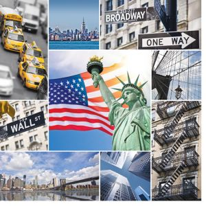 New York Montage Custom Made Picture Frame