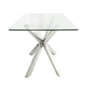Nora Glass Top End Table
