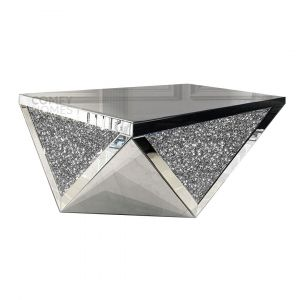 Crushed Crystal Octagon Coffee Table (Milano)