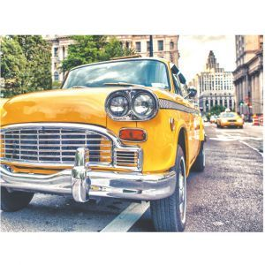 Old New York Taxi Custom Made Picture Frame