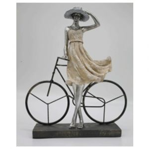 Lady With Bicycle Ornament