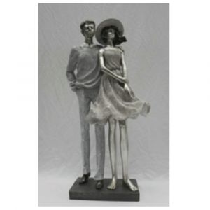 Couple Standing Together Ornament