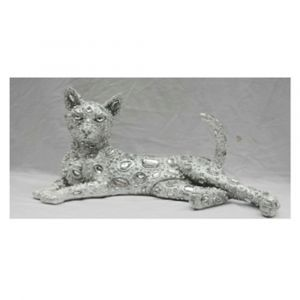 Lounging Electroplated Cat Ornament