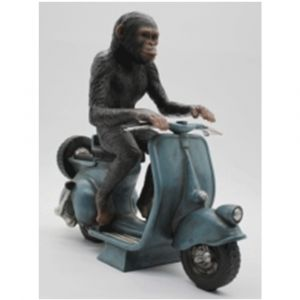 Monkey On Scooter Ornament