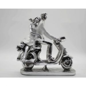 Couple On Scooter Ornament