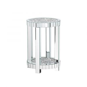 Crushed Crystal Small Round Pedestal (Milano)