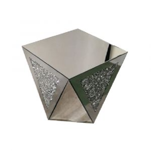 Mirrored Crushed Crystal Coffee/Side Table (Sofia)