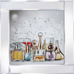 Perfume Bottles Mirrored Picture Frame