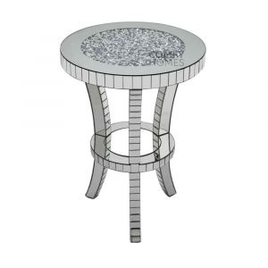 Crushed Crystal Curve Leg Side Table (Milano)