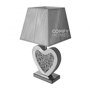 Crushed Crystal Large Heart Table Lamp (Milano)
