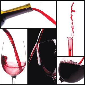 Red Wine Collage Custom Made Picture Frame