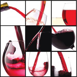 Red Wine Montage Custom Made Picture Frame