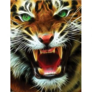 Roaring Tiger Custom Made Picture Frame