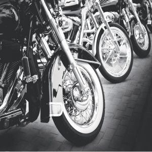 Row Of Motorbikes Custom Made Picture Frame