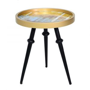 Mustard and Gold End Table
