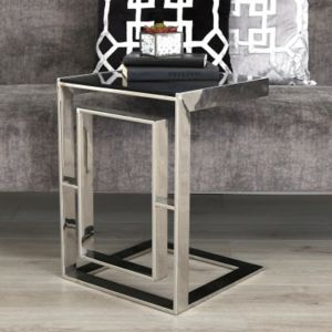 Apax Stainless Steel Glass Top Sofa Table  Alternative