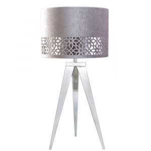 Hendrix Chrome Table Lamp With Stencil Shade