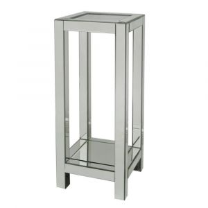 Mirrored Crushed Crystal Top End Table (Isabel)