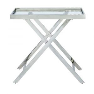 Evie Stainless Steel Console Table