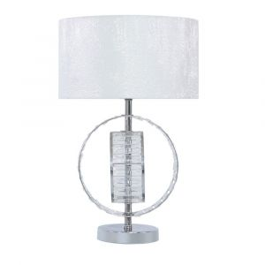 Metal and Crystal Table Lamp