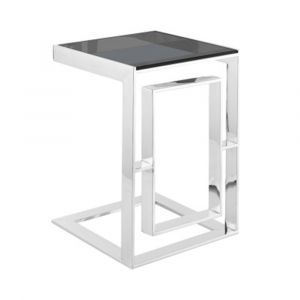 Apax Stainless Steel Glass Top Sofa Table