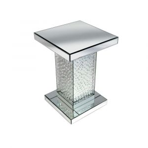 Floating Crystal Mirrored Side Stand