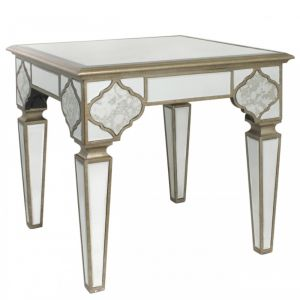 Mirrored Masira Side Table Alternative