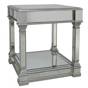 Mirrored Alivia Side Table