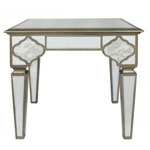 Mirrored Masira Side Table