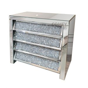 4 Crushed Crystal Drawer Chest (Milano)