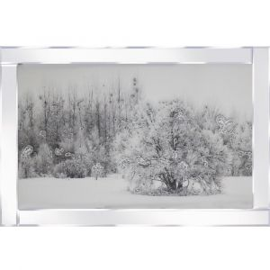 Winter Setting Mirrored Picture Frame