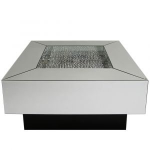 Floating Crystal Square Coffee Table