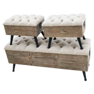 Set Of Box Stools With Legs