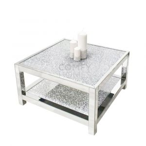 Crushed Crystal 2 Tier Square Coffee Table (Milano)