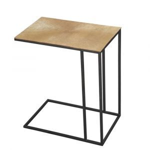 Blake Gold End Table With Nickel Top
