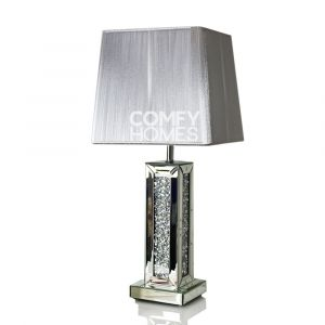 Mirrored Crushed Crystal Table Lamp (Milano)