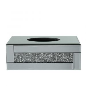 Mirrored Crushed Crystal Tissue Box (Isabel) Alternative
