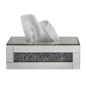 Mirrored Crushed Crystal Tissue Box (Isabel)