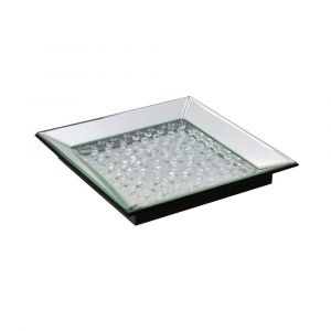 Floating Crystal Mirrored Tray