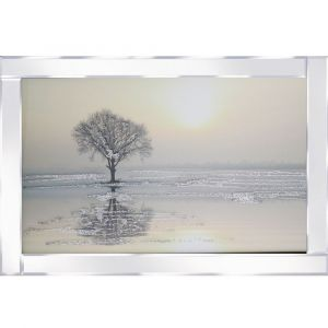 Tree By The Sea Mirrored Picture Frame