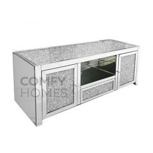 Crushed Crystal Top 130cm TV Unit (Milano)