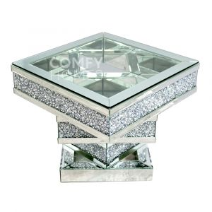 Crushed Crystal Twist Side Table (Milano)