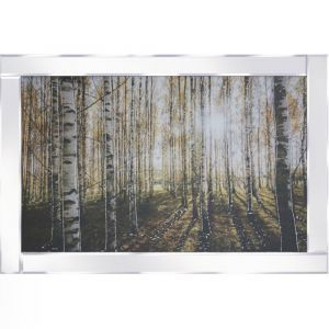 Trees In A Field Mirrored Picture Frame