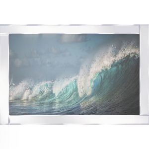 Waves At Sea Mirrored Picture Frame
