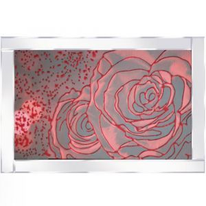 Abstract Roses Mirrored Picture Frame