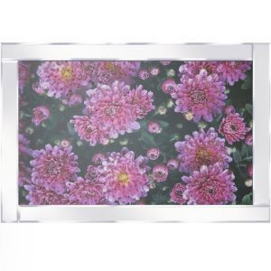 Flowers Blooming Mirrored Picture Frame