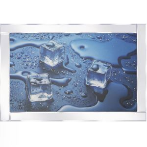 Melting Ice Cubes Mirrored Picture Frame