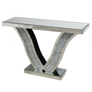 Crushed Crystal V Console Table