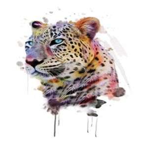 Vibrant Leopard Custom Made Picture Frame